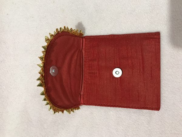 Red Small Gota Shagun Envelope with Magnetic Lock 2