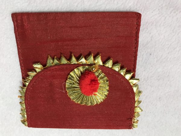 Red Small Gota Shagun Envelope with Magnetic Lock 1