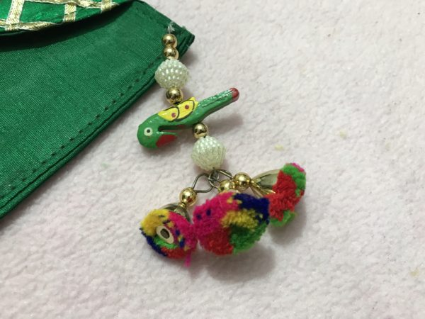 Green Parrot Check Shagun Envelope 3