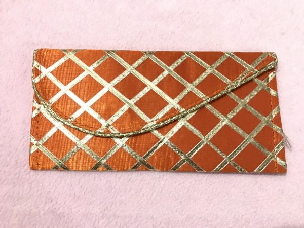 Orange check shagun envelope 4