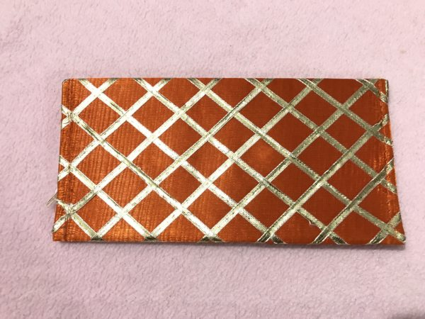 Orange check shagun envelope 3
