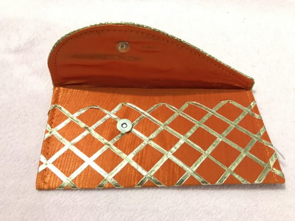 Orange check shagun envelope 2