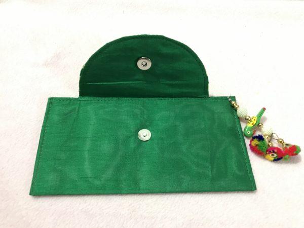 Green Parrot Check Shagun Envelope 1