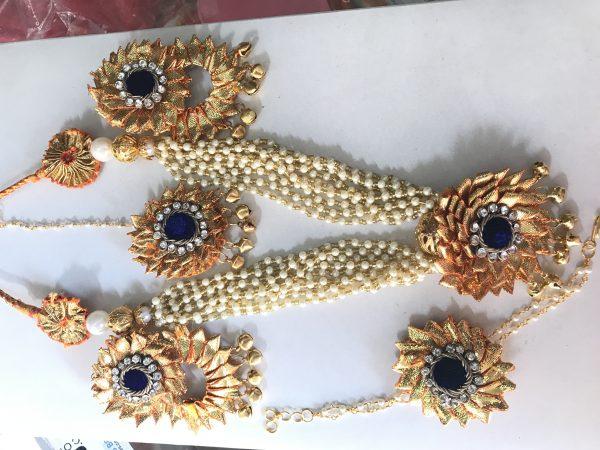 Blue Gota Jewellery Set for Haldi