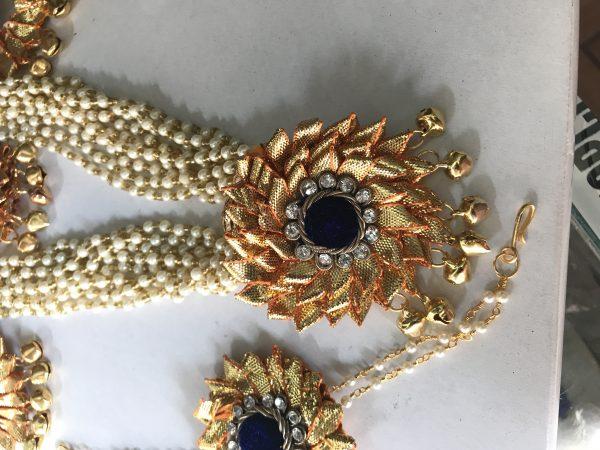 Blue Gota Jewellery Necklace for Haldi