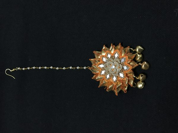 Yellow Gota Jewellery Tikka for Haldi