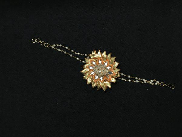 Yellow Gota Jewellery Bracelet for Haldi